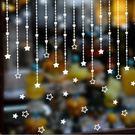壁貼 星星吊墜 城鎮聖誕雪花牆貼 PVC 透明膜牆貼 聖誕節 熱銷【A3303】