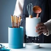 北歐陶瓷筷子筒單個收納罐筷子勺收納筒創意筷子籠餐具廚房收納盒 喵小姐
