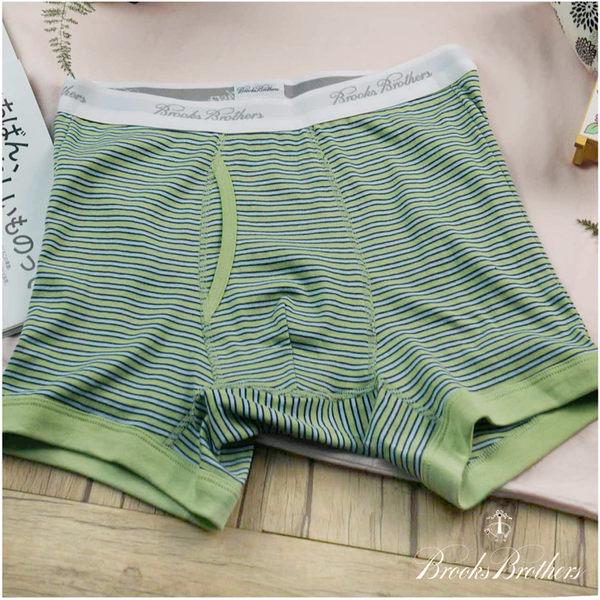 【大盤大】Brooks Brothers 男內褲 四角褲 條紋平口褲 棉質 前檔 情侶禮物 合身貼身 彈性 名牌內褲