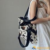 奶牛紋大容量手提女包單肩斜跨大包托特包【勇敢者】