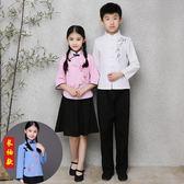 兒童表演服裝 古裝民國學生裝大合唱朗誦演出服 cosplay