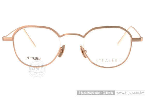 STEALER 眼鏡 FOG C02 (金) 摩登經典造型圓框款 平光鏡框 # 金橘眼鏡