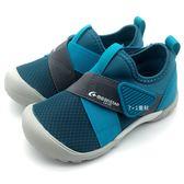 《7+1童鞋》中童 MOONSTAR 日本月星 魔鬼氈 透氣 機能鞋 運動鞋 C439 綠色