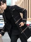 西裝 大衣男秋冬風衣中長款冬季男士呢子外套2020新款男裝【聖誕禮物】