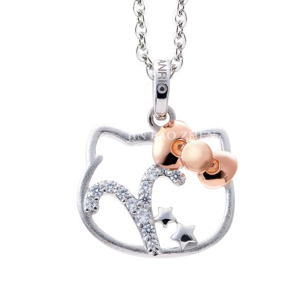 Hello Kitty凱蒂貓-牡羊座(3/21~4/20)-星座銀飾墜子