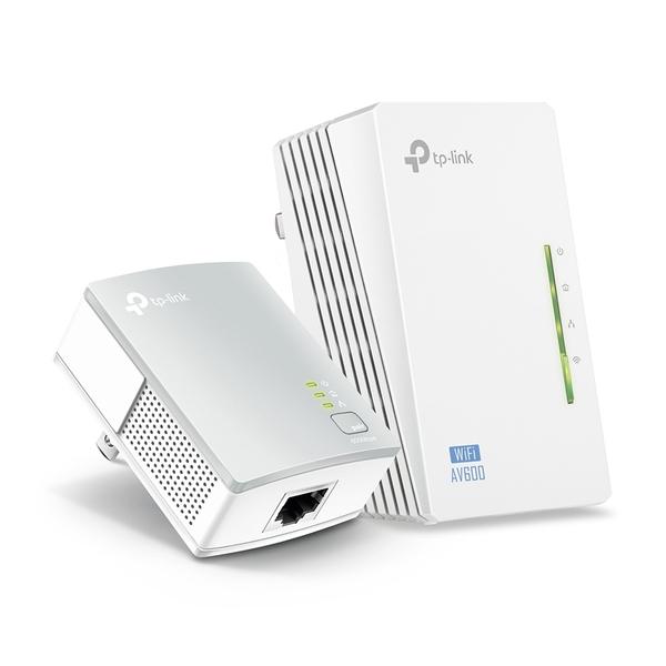 TP-LINK 300Mbps AV600 Wi-Fi電力線網路橋接器-雙包 TL-WPA4220KIT