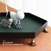 首飾收納桌面貓爪飾品收納盒簡約大容量【少女顏究院】