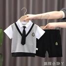 兒童夏裝套裝2021年新款洋氣男童網紅短袖兩件套寶寶薄款夏天衣服 蘿莉新品