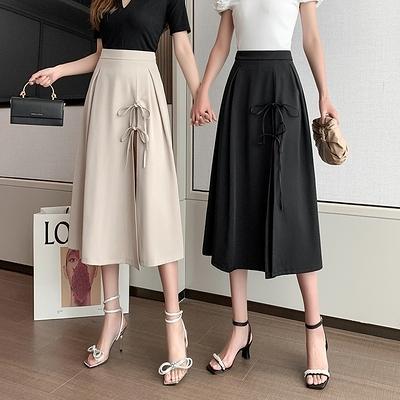 半身裙~新款設計感小眾中長款半身裙高腰顯瘦開叉半身裙G626-A胖妞衣櫥