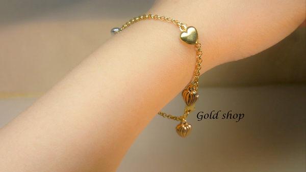 ╭☆ gold shop ☆╯ 義大利 585 三彩K金 手鍊 [ kb 028 ] 活動價