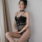 情趣睡衣 情趣內衣 情趣用品 網衣制服透視緊身綁帶吊帶蕾絲連身衣 女情趣內衣褲性感內衣連體衣