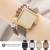 正韓JULIUS優雅風範方形絲綢緞面內真皮錶 手錶【WJA354】璀璨之星☆