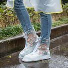 加厚耐磨底防滑戶外徒步旅行中筒透明學生鞋套 【米蘭街頭】
