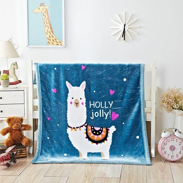韓系可愛風 秋冬必備雙層加厚多功能法蘭絨雲毯 兒童毯《小羊駝》