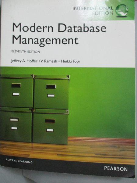 【書寶二手書T5/大學資訊_JGD】Modern database management_Jeffrey A. Hoff