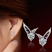 伊人 四葉草耳釘氣質飾品小耳環迷防過敏