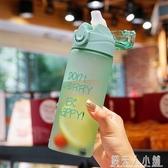塑料杯水杯韓版個性潮流運動戶外防漏便攜女水壺男學生成人吸管杯「錢夫人小鋪」
