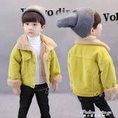 嬰兒冬裝男童加絨加厚外套1-2-3-4-5-6歲兒童燈芯絨夾克寶寶衛衣·蒂小屋
