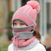 毛線帽加絨加厚防風護耳針織帽子女冬季保暖【極簡生活館】