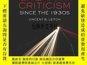 二手書博民逛書店【罕見】American Literary Criticism Since The 1930sY27248 V