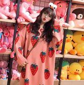 SINE KOREA 秋冬時尚韓妞草莓緹花針織連身裙