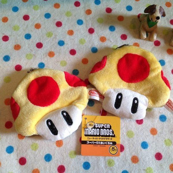 【發現。好貨】【出清特價$89】超級瑪莉 馬力歐立體刺繡小蘑菇零錢包 吊飾 收納包