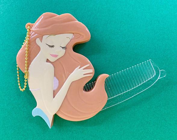 【震撼精品百貨】The Little Mermaid Ariel_小美人魚愛麗兒~迪士尼公主立體摺疊梳-美人魚#04275