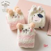 毛巾襪 襪子女地板襪秋冬中長筒睡眠珊瑚絨家居月子毛巾襪ins潮 多款