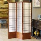 日式無紡布帶檔板折疊簡約實木攝影背景料理店玄關屏風牆移動隔斷 時尚彩紅屋