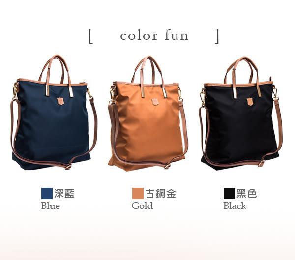 DF Queenin日韓 - 日本熱銷系列新款尼龍手提斜背托特包