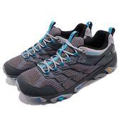 Merrell 戶外鞋 Moab FST 2 GTX 灰 藍 Gore-Tex 防水 透氣 越野 運動鞋 男鞋【PUMP306】 ML77449