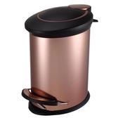 HOLA 紐約緩降防指紋垃圾桶5L 金