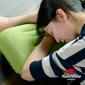 Naturehike 按壓式 超輕便攜戶外旅行充氣睡枕 靠枕 果綠色