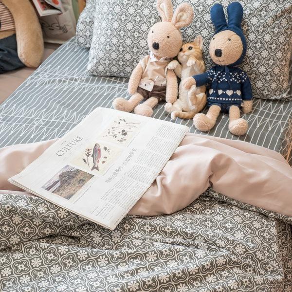 海棠花 枕套乙個 四季磨毛布 北歐風 台灣製造 棉床本舖