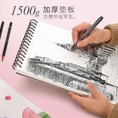 8K素描速寫圖畫本畫畫a4水彩手繪紙開小清新簡約成人空白厚學生  易貨居