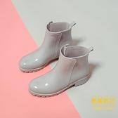 雨鞋女士防滑雨靴中短筒外穿女式廚房膠鞋加絨套低幫防水鞋【輕奢時代】