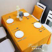 簡約純色桌布酒店圓桌素色全棉帆布 果果輕時尚