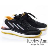 ★2019春夏★Keeley Ann輕運動潮流 撞色疊層個性休閒鞋(黑色) -Ann系列