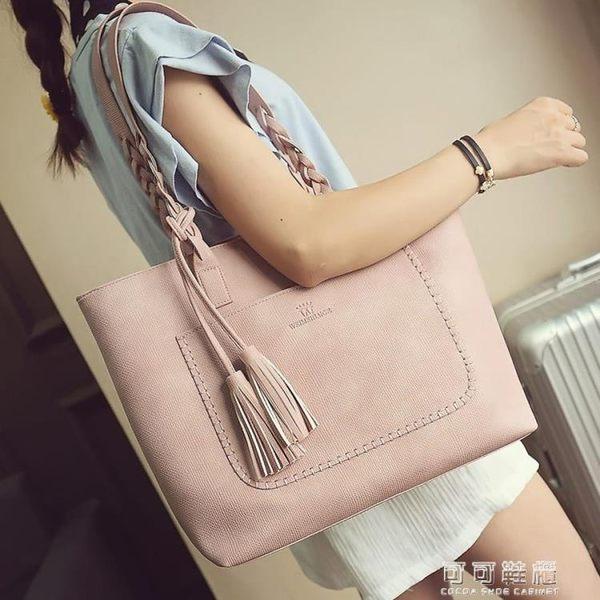 大包包女簡約歐美托特包大容量包手提包單肩大包時尚潮包 可可鞋櫃