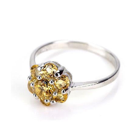 黃水晶 七星陣戒指