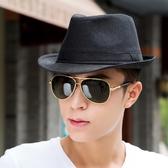 紳士帽春冬季禮帽男士亞麻帽子正韓潮爵士帽沙灘帽遮陽英倫草帽太陽帽
