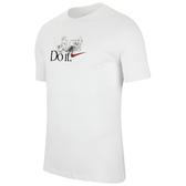 Nike 男圖案圓領上衣(白色)