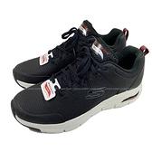 (C5) SKECHERS 男鞋 ARCH FIT 運動鞋 健走鞋 工作鞋 足底筋膜炎舒緩 232200BKW黑 [陽光樂活]