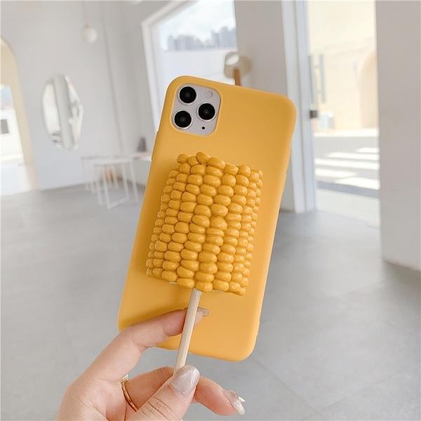 OPPO Reno2立體蛋撻玉米簡約手機套 潮流Reno2z保護殼 OPPO RenoZ手機殼皮套 毆珀reno十倍變焦素面保護套