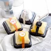 雪媚娘包裝盒班戟吸塑盒方形一次性甜品點心蛋糕盒子帶蓋透明單個
