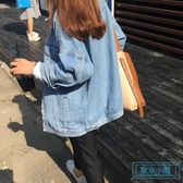 牛仔外套女 ins寬鬆百搭2019牛仔外套潮女春裝原宿bf風短款學生休閒夾克上衣 歐米小鋪