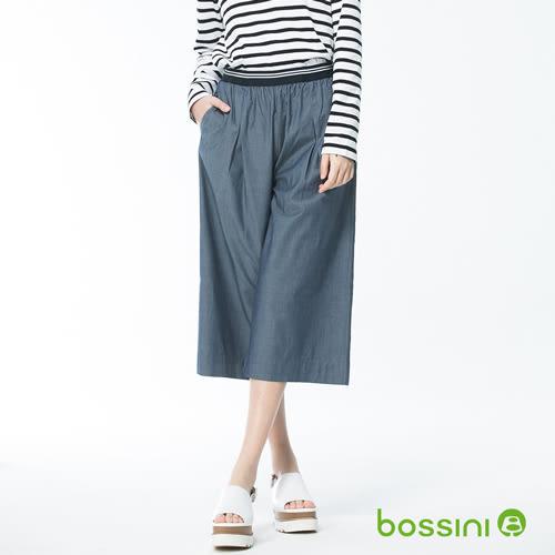 素色七分寬褲04深靛藍-bossini女裝