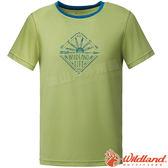 Wildland 荒野 0A61610-37淺綠色 男彈性棉感抗UV印花衣 抗紫外線/涼爽散熱/吸濕快乾/登山旅遊*
