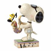 Enesco Peanuts SNOOPY 史努比薩克斯風塑像_EN82122
