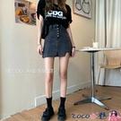 熱賣牛仔短裙 大碼胖mm高腰韓版牛仔短裙女2021春夏新款顯瘦包臀a字半身裙褲裙 coco